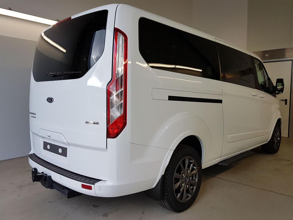 Ford / Tourneo Custom / Weiß /  /  / L2H1 WLTP 2.0 TDCi EcoBlue MHEV 136kW / 185PS