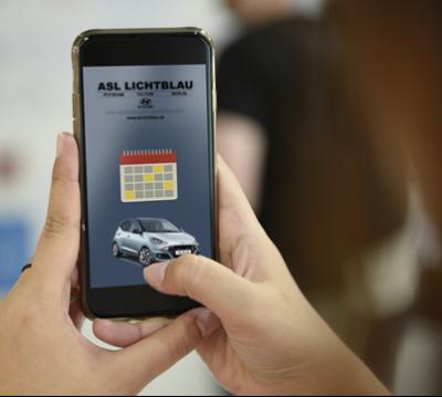 Online-Terminplaner ASL Lichtblau