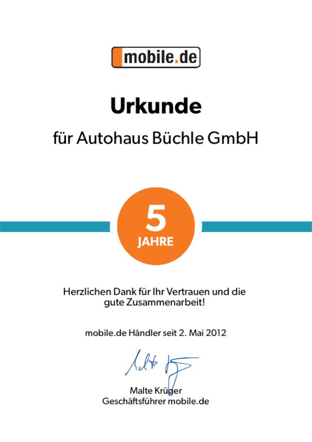 5-Jahre mobile.de Urkunde