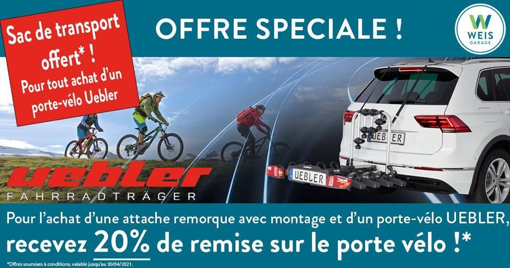Porte-vélos Uebler – Action jusqu'au 01.05.2021