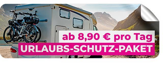 URLAUBS-SCHUTZ-PAKET FÜR REISEMOBIL- UND WOHNWAGEN-MIETER