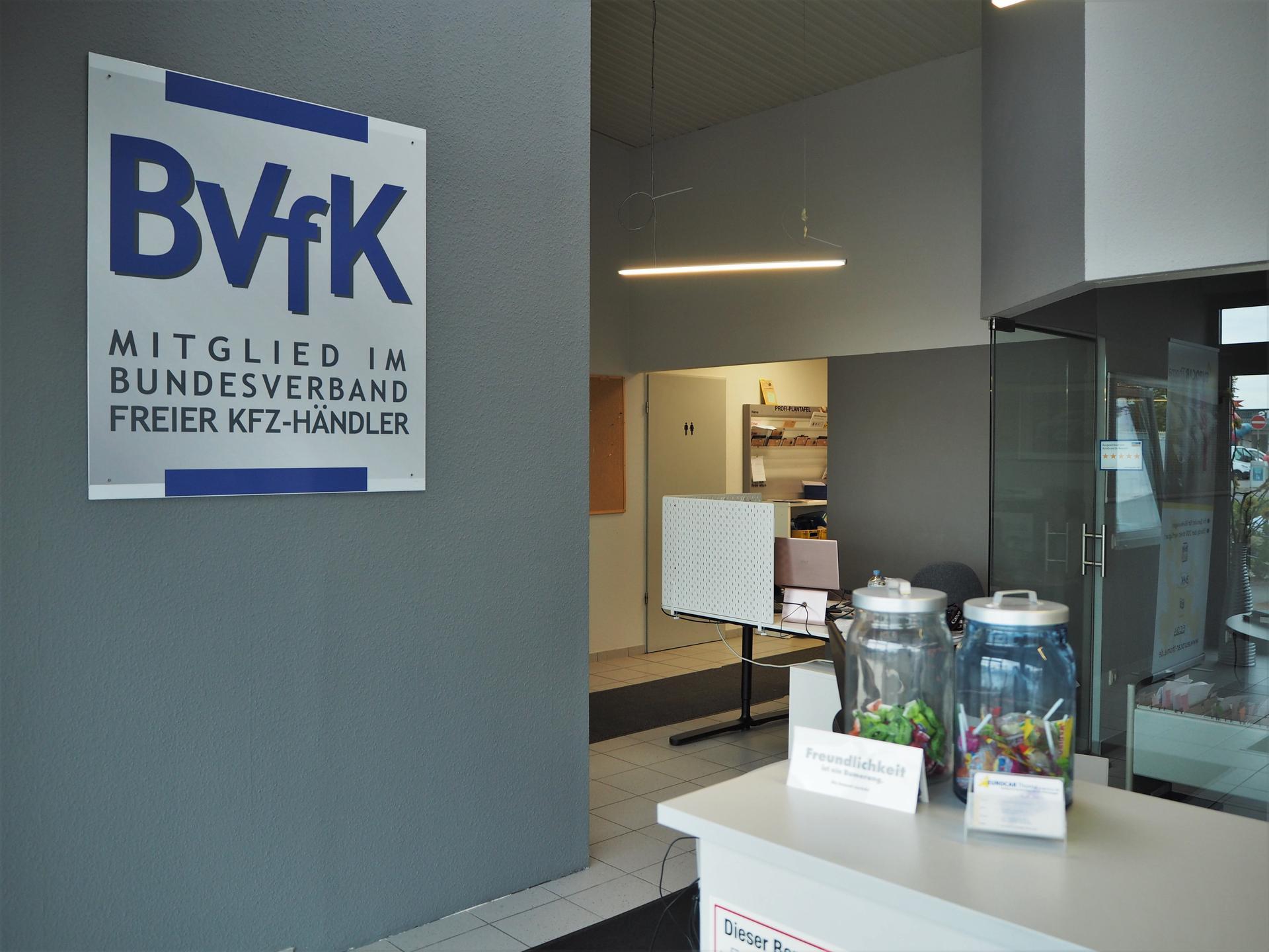vorderer Bereich und Besuchertoilette