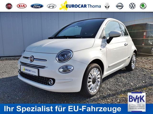 Lagerfahrzeug Fiat 500C - Lounge 1.2 40%  PDC h., Nebelscheinw., Licht- und Regens., 15'' Alu, Klima