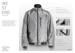 Westend Fahrrad-Jacke Details, Beispielbilder, ggf. teilweise mit Sonderausstattung