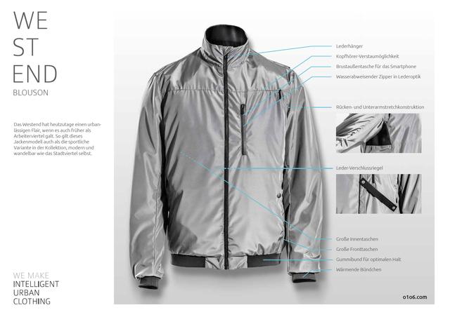 O1O6 Fahrradbekleidung - Westend - Fahrradjacke / Blouson Größe XL sofort verfügbar!