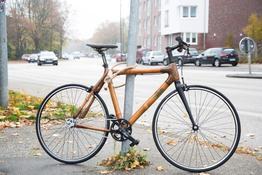 Fahrradschloß massives Stahlseil mit Hanf umwickelt mit naturfarbenen Echtleder-Applikationen., Beispielbilder, ggf. teilweise mit Sonderausstattung