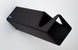 Parax Wandhalter Grundmodul schwarz - lang, Beispielbilder, ggf. teilweise mit Sonderausstattung
