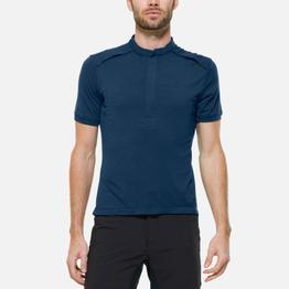 Giro Fahrrad-Trikots      The SS Merino Jersey with Pockets - dunkelblau Größe S