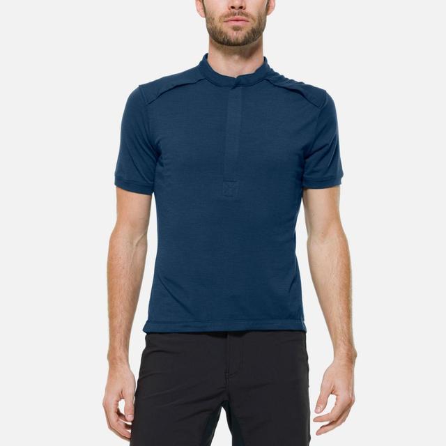 Giro Fahrrad-Trikots - The SS Merino Jersey with Pockets - dunkelblau Größe S