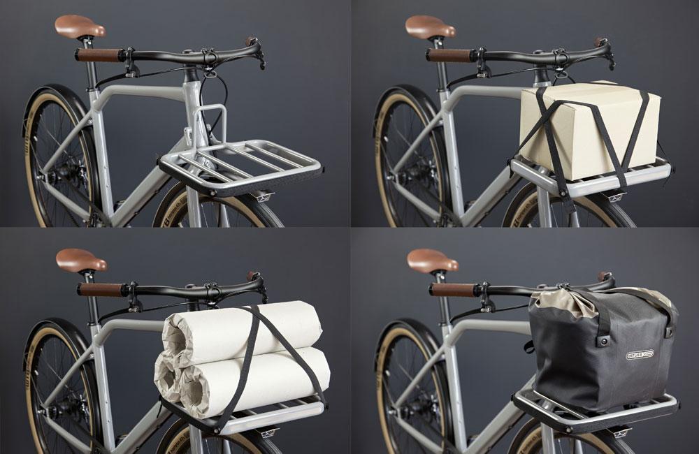 Schindelhauer Gustav - mit fest installiertem Frontgepäckträger wird das Bike zum Transportrad.