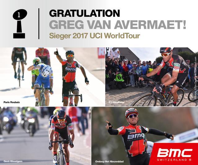 BMC gewinnt die UCI WorldTour 2017 mit Greg van Avermaet.