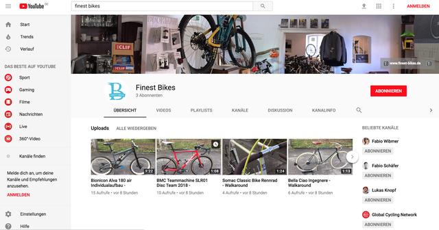 Finest Bikes Youtube Kanal