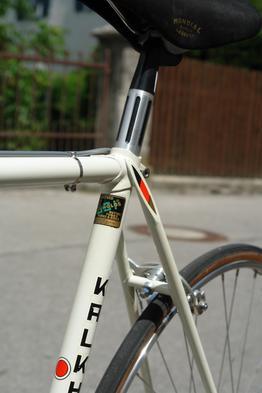Kalkhoff Rennrad mit klassischem Stahlrahmen mit Reynolds Rohren, Beispielbilder, ggf. teilweise mit Sonderausstattung