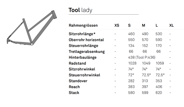 MTB CYCLETECH TOOL - Lady 28 - Frameset