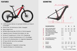 Geometrie Rotwild X750 Hardtail, Beispielbilder, ggf. teilweise mit Sonderausstattung