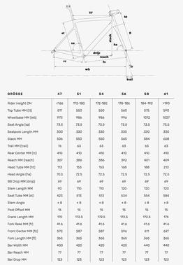BMC Teammachine SLR02 2020 Geometrie, Beispielbilder, ggf. teilweise mit Sonderausstattung