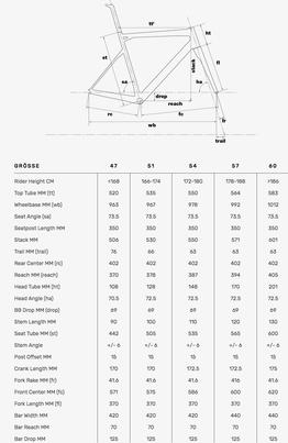 Geometrie BMC Teammachine SLR03 2020, Beispielbilder, ggf. teilweise mit Sonderausstattung