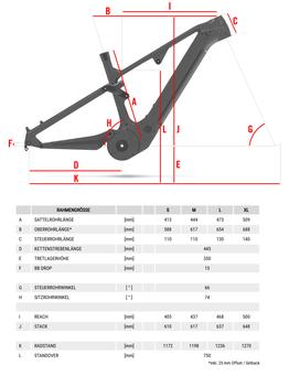 Geometrie Rotwild X750 2021, Beispielbilder, ggf. teilweise mit Sonderausstattung