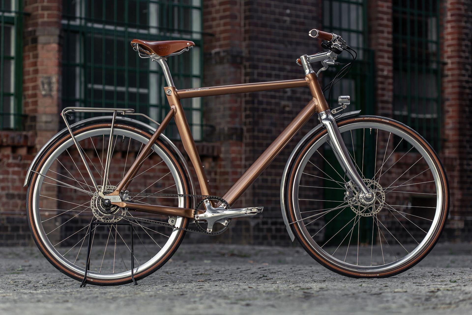Schindelhauer Friedrich - Nougat Edition - komfortables Herrenrad mit Zahnriemenantrieb