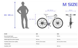 Geometriedaten und Größenempfehlung für M, Beispielbilder, ggf. teilweise mit Sonderausstattung