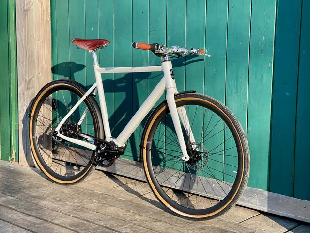 Desiknio Pinion Electric Bike - CLASSIC 9-Gang-Pinion, Größe M, pearl white, sofort lieferbar
