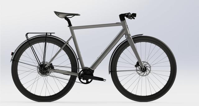 Desiknio Pinion Electric Bike - URBAN größe M, moondust silver, carbongabel, sofort lieferbar!