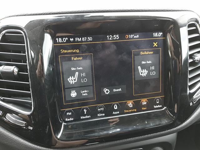 Jeep Compass 1.4 170PS 4x4 Automatik Limited Voll-Leder Winterpaket Rückf.Kamera Klimaautomatik Navi PDC v+h Keyless starten+öffnen Dach schwarz