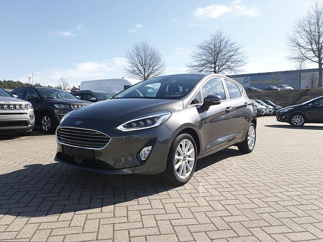 Ford Fiesta - 1.0 100PS Ecoboost Automatik Titanium 5-Türig Klimaautomatik Sitzheizung Lenkradheizung Frontscheibe beheizb. Navi PDC v+h Tempomat mit ACC Rückf.Kamera Keyl.Entry B+O Sound Voll-LED