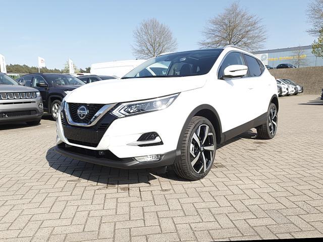 Nissan Qashqai 1.3 DIG-T 140PS Tekna Plus Voll-LED Klimaautomatik Sitzheizung 19''LM Navi Rückf.Kamera PDC v+h PanoGlasdach Teil-Leder