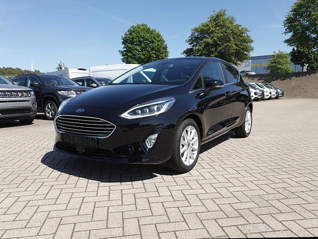 Ford Fiesta - 1.0 100PS EcoBoost Titanium 5-türig Voll-LED elekt. Panorama Schiebedach Klimaautomatik Frontscheibe beheizb. Navi PDC v+h Tempomat mit ACC Rückf.Kamera B+O-Sound