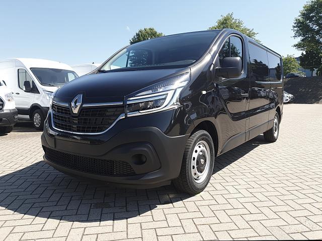 Renault Trafic Kastenwagen - L2H1 2.0 dCi 120PS Komfort 3,0t 3-Sitzer Klima Voll-LED Anhängerkupplung Bluetooth Parksensoren Tempomat ZV-Fernb. 2 elekt.Fensterh. elekt. beheizb. Außenspiegel 2x Flügeltüren Trennwand
