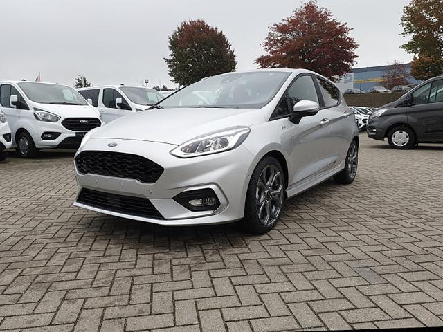 Ford Fiesta - 1.0 EcoBoost Hybrid 125PS ST-Line 5-türig Klimaautomatik Sitzheizung Lenkradheizung Frontscheibe beheizb. Navi PDC v h Tempomat mit ACC Rückf.Kamera drahtl. Telefonladung B O Sound Vorlauffahrzeug