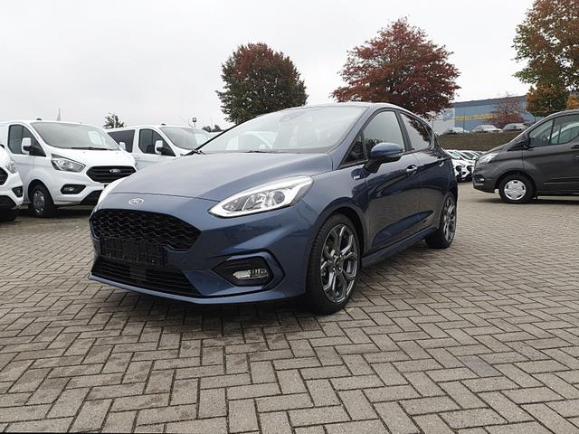 Ford Fiesta - 1.0 EcoBoost Hybrid 125PS ST-Line 5-türig Klimaautomatik Sitzheizung Lenkradheizung Frontscheibe beheizb. Navi PDC v+h Tempomat mit ACC Rückf.Kamera drahtl. Telefonladung B+O Sound
