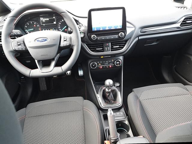 Fiesta 1.0 95PS EcoBoost ST-Line 5-türig Voll Voll-LED Klimaautomatik Sitzheizung Lenkradheizung Frontscheibe beheizb. PDC Ford-Navi SYNC 3 DAB+ Bluetooth 8''-Touchscreen Apple Carplay Android Auto