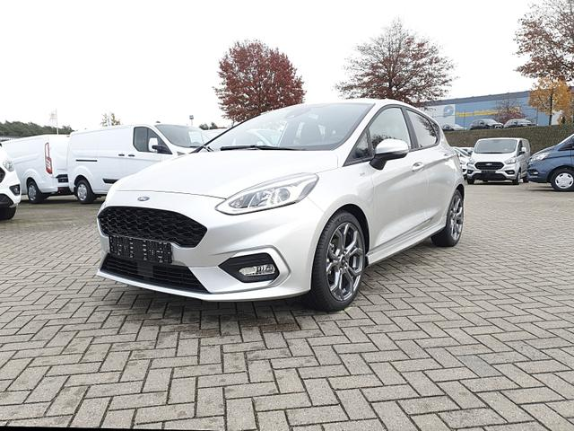 Lagerfahrzeug Ford Fiesta - 1.0 95PS EcoBoost ST-Line 5-türig Klim Klimaautomatik Ford-Navi SYNC 3 DAB  Bluetooth 8''-Touchscreen Apple Carplay Android Auto Sitzheizung Lenkradheizung Frontscheibe beheizb. PDC