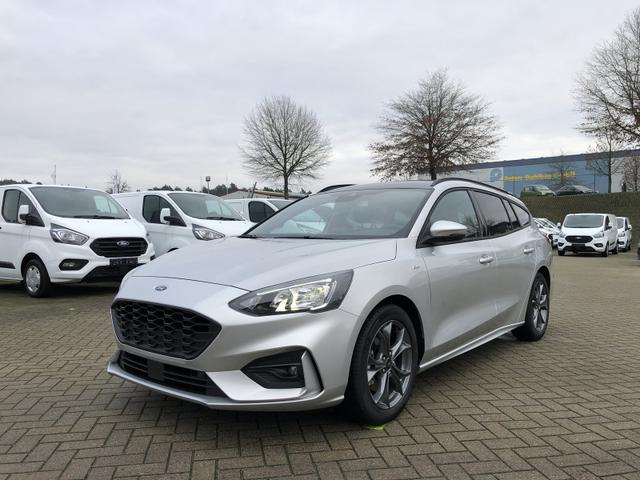 Ford Focus Turnier - 1.0 EcoBoost Hybrid 125PS ST-Line Business Winter-Paket elekt. PanoDach LED-Scheinw. Klimaautomatik Ford-Navi SYNC3 DAB+ 8''-Touchscreen mit Bluetooth Apple CarPlay Android Auto PDC v+h R
