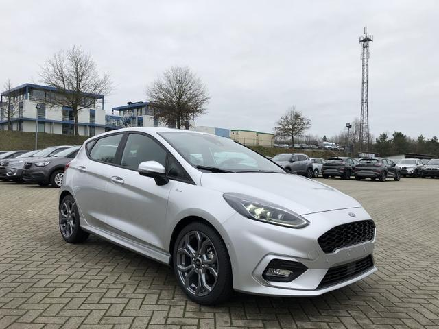 Ford (EU) Fiesta 1.0 EcoBoost Hybrid 125PS ST-Line 5-türig Voll-LED Klimaautomatik Sitzheizung Lenkradheizung Ford-Navi SYNC3 DAB+ 8''-Touchscreen mit Bluetooth Apple CarPlay Android Auto Frontscheibe beheizb. P