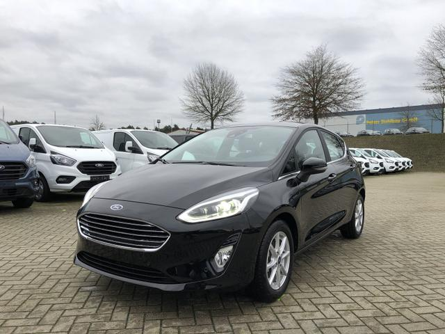 Ford Fiesta - 1.0 EcoBoost Hybrid 125PS Titanium 5-türig Voll-LED Klimaautomatik Sitzheizung Lenkradheizung Ford-Navi SYNC3 DAB+ 8''-Touchscreen mit Bluetooth Apple CarPlay Android Auto Frontscheibe beheizb.