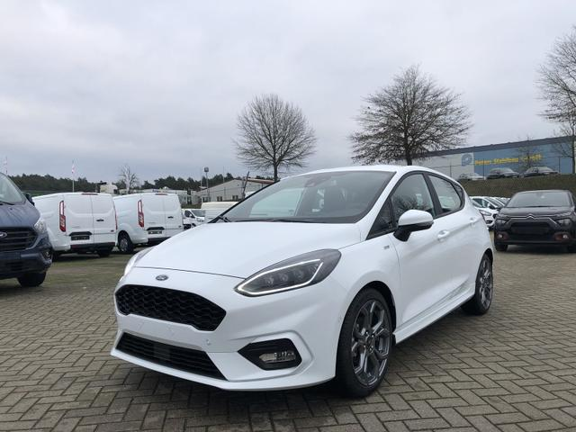 Lagerfahrzeug Ford Fiesta - 1.0 EcoBoost Hybrid 125PS ST-Line 5-türig Voll-LED Klimaautomatik Sitzheizung Lenkradheizung Ford-Navi SYNC3 DAB  8''-Touchscreen mit Bluetooth Apple CarPlay Android Auto Frontscheibe beheizb. P