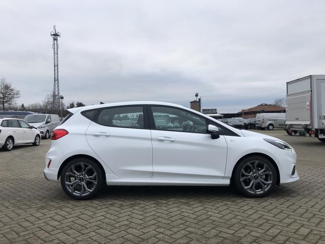 Ford (EU) Fiesta 1.0 EcoBoost Hybrid 125PS ST-Line 5-türig Voll-LED Klimaautomatik Sitzheizung Lenkradheizung Ford-Navi SYNC3 DAB+ 8''-Touchscreen mit Bluetooth Apple CarPlay Android Auto Frontscheibe beheizb. P