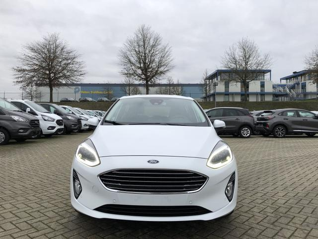 Fiesta 1.0 EcoBoost Hybrid 125PS Titanium 5-türig Voll-LED Klimaautomatik Sitzheizung Lenkradheizung Ford-Navi SYNC3 DAB+ 8''-Touchscreen mit Bluetooth Apple CarPlay Android Auto Frontscheibe beheizb.