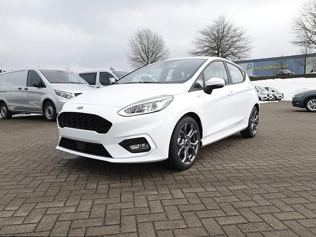 Ford Fiesta - 1.0 EcoBoost 95PS ST-Line 5-türig Klimaautomatik Navi-Ford SYNC 3 DAB+ Bluetooth 8''-Touchscreen Apple Carplay Android Auto Sitzheizung Lenkradheizung Frontscheibe beheizb. PDC