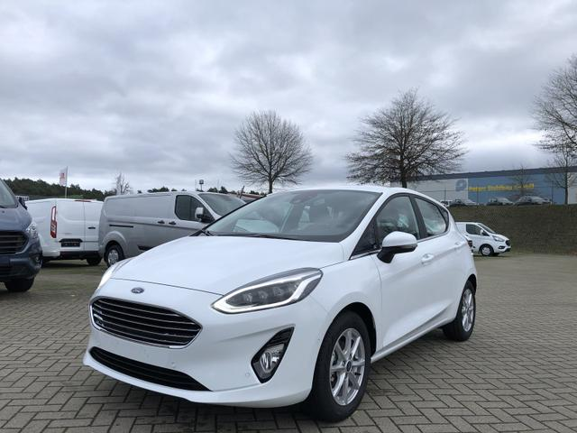 Lagerfahrzeug Ford Fiesta - 1.0 EcoBoost Hybrid 125PS Titanium 5-türig Voll-LED Klimaautomatik Sitzheizung Lenkradheizung Ford-Navi SYNC3 DAB  8''-Touchscreen mit Bluetooth Apple CarPlay Android Auto Frontscheibe beheizb.
