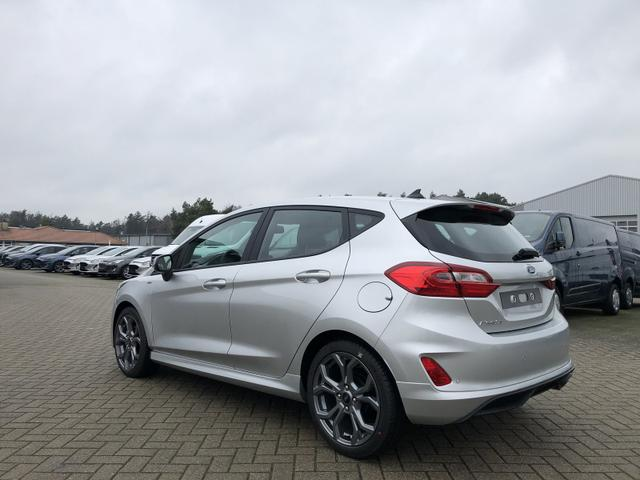 Fiesta 1.0 EcoBoost 95PS ST-Line 5-türig Klimaautomatik Sitzheizung Lenkradheizung Keyless Ford-Radio SYNC 3 DAB+ Bluetooth 8''-Touchscreen Apple Carplay Android Auto Frontscheibe beheizb. PDC