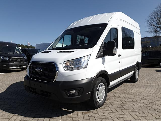 Lagerfahrzeug Ford Transit Custom - 350 Doppelkabine L2H3 2.0 TDCi 130PS Trend 3,5t 6-Sitzer Sitzheizung Anhängerkupplung Klima Ford-Navi SYNC 3 DAB  Bluetooth 8''-Touchscreen Apple Carplay Android Auto PDC v h Rückf.Kamera Tempo
