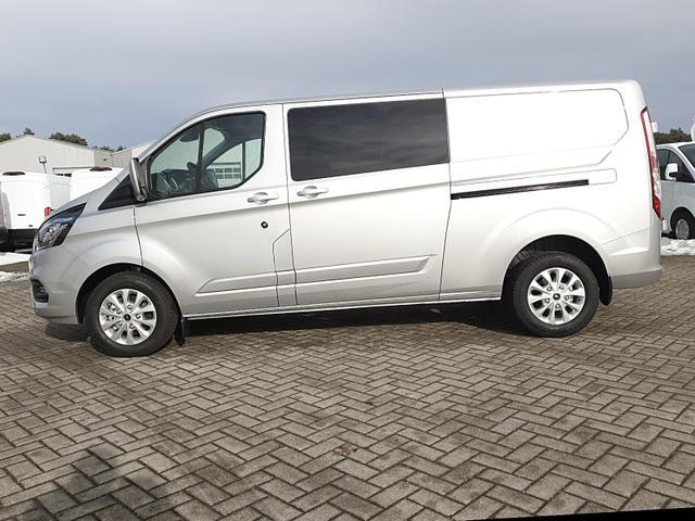 Ford Transit Custom - Doppelkabine L2 2.0 TDCi 130PS Automatik Limited 3,2t 5-Sitzer Voll-LEDER Klima Sitzheizung Anhängerkupplung Ford-Navi SYNC 3 DAB+ Bluetooth 8