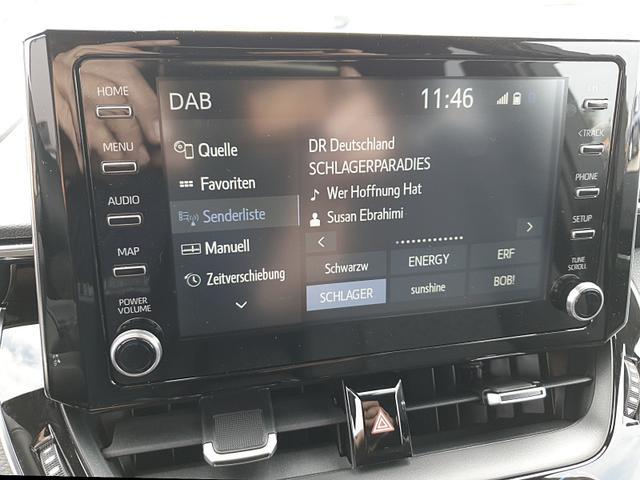 Toyota Corolla Touring Sports - 1.8 Hybrid 122PS Automatik Team Deutschland Sitzheizung Lenkradheizung App-Connect PDC v&h Kamera Keyless Öffnen & Starten kabelloses Handy laden Klimaautomatik Bi-LED-Scheinw.