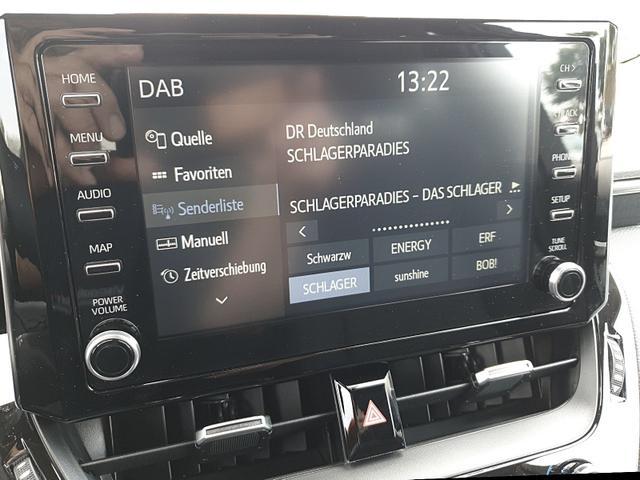 Corolla Touring Sports      1.8 Hybrid 122PS Automatik Team Deutschland Sitzheizung Lenkradheizung App-Connect PDC v&h Kamera Keyless Öffnen & Starten kabelloses Handy laden Klimaautomatik Bi-LED-Scheinw.