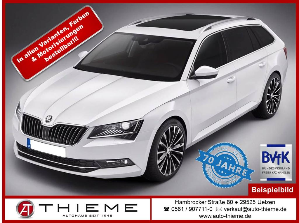 skoda superb combi 2 0 tdi style edition navi kamera leder shz sunset extras auto thieme. Black Bedroom Furniture Sets. Home Design Ideas