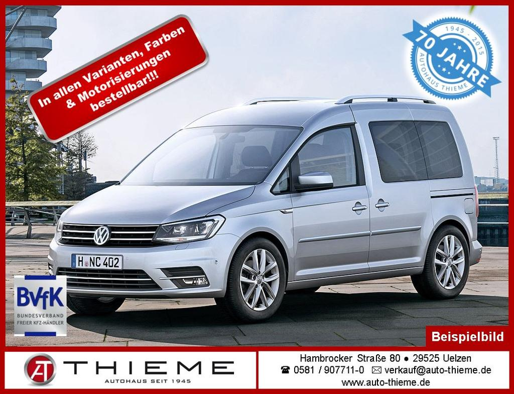 volkswagen caddy 2 0 tdi 122ps 4x4 trendline maxi 7 sitze gra front assist klima extras auto. Black Bedroom Furniture Sets. Home Design Ideas